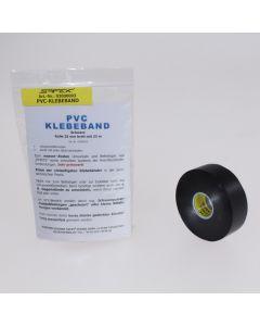 SAFEX®-PVC-Klebeband schwarz, 25 mm breit
